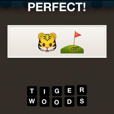 Tiger Woods Hi Guess The Emoji Answers Hi Guess The Emoji Cheats